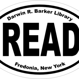 Show Your Support for Barker Library with a Decal or Magnet!